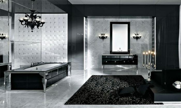 38 beispiele f r badezimmer in schwarz for Schicke badezimmer