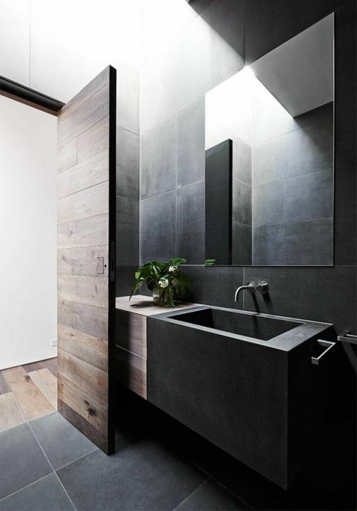 Badezimmer Schwarz ~ Verschiedenes Interessantes Design Für Ein, Badezimmer