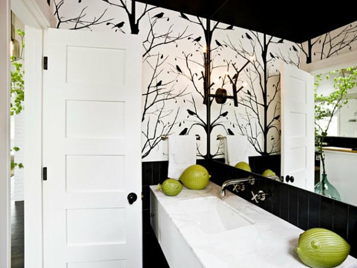 52 Fotos Von Badezimmer In Schwarz Und Weiß! - Archzine.net Badezimmer Deko Schwarz Weiss