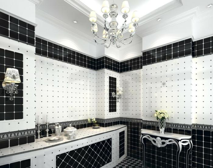 Fantastisch 52 Fotos Von Badezimmer In Schwarz Und Weiß!