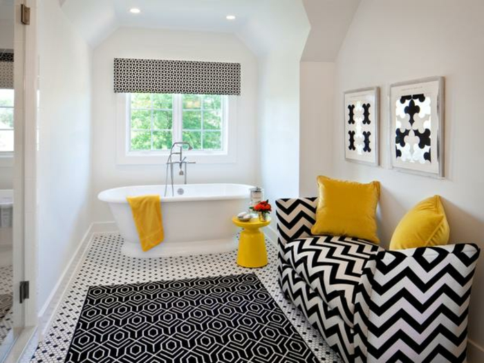 badezimmer-in-schwarz-und-weiß-gelbe-akzente