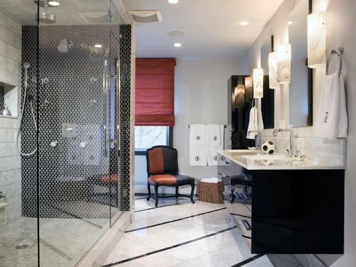 Badezimmer Schwarz Rot : ... und attraktives badezimmer in schwarz ...