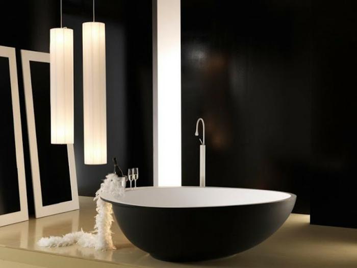 52 fotos von badezimmer in schwarz und wei. Black Bedroom Furniture Sets. Home Design Ideas