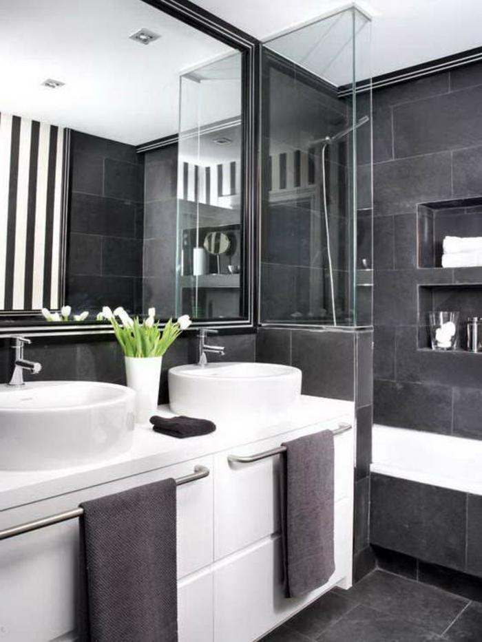 52 Fotos Von Badezimmer In Schwarz Und Weiß! - Archzine.net Badezimmer In Grau Weiss