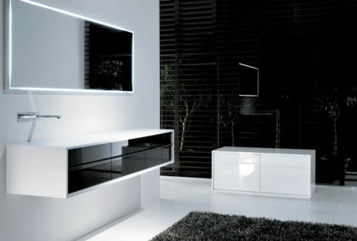 badezimmer-in-schwarz-und-weiß-schicker-teppich