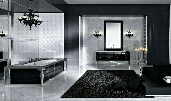52 fotos von badezimmer in schwarz und wei. Black Bedroom Furniture Sets. Home Design Ideas