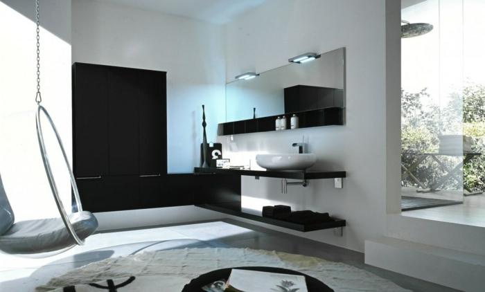 super interessante gestaltung vom badezimmer in schwarz und weiß