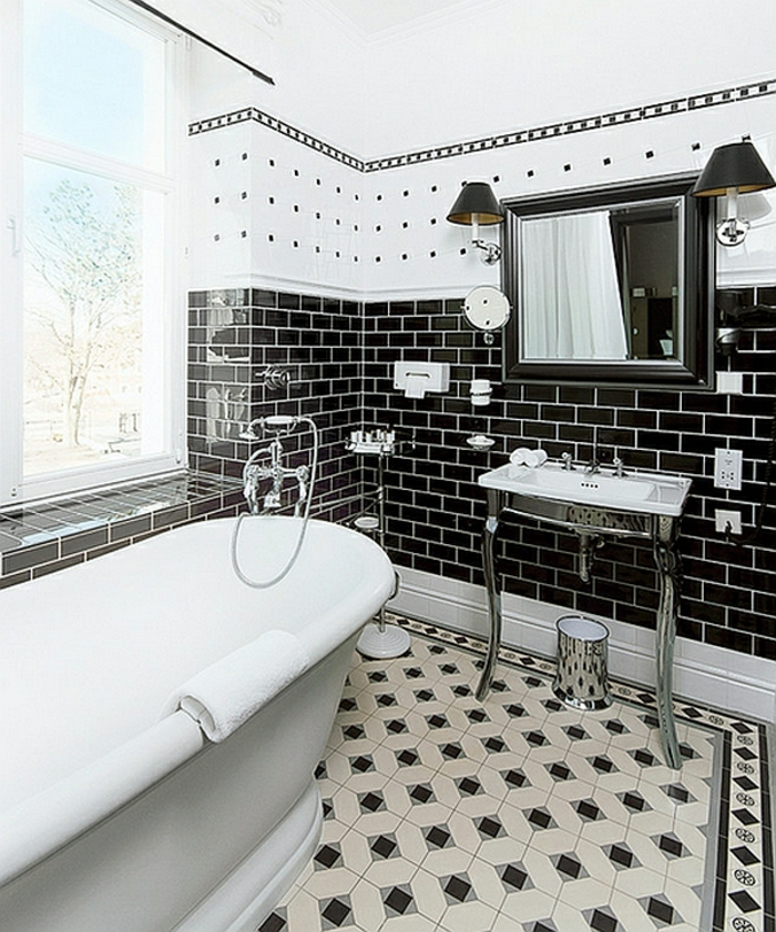 badezimmer-in-schwarz-und-weiß-ziegelfliesen