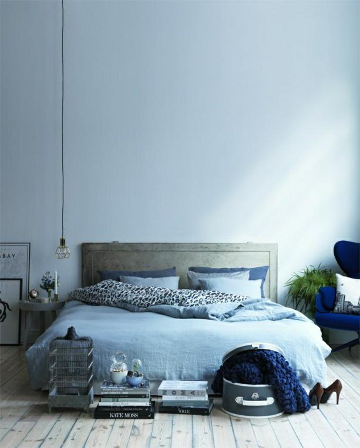 blaues-Schlafzimmer-schöne-Bettwäsche-Blautönungen