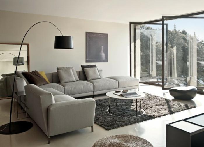 Wohnzimmer Barock Einrichten : moderne interessante bogenleuchte ...