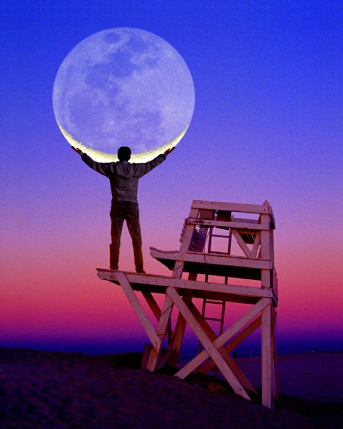 coole-Bilder-Mann-Mond-Sonnenuntergang-Arme