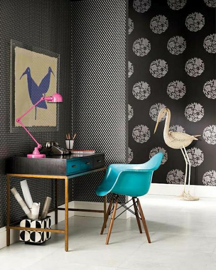 23 designer tapeten f r den arbeitsplatz. Black Bedroom Furniture Sets. Home Design Ideas