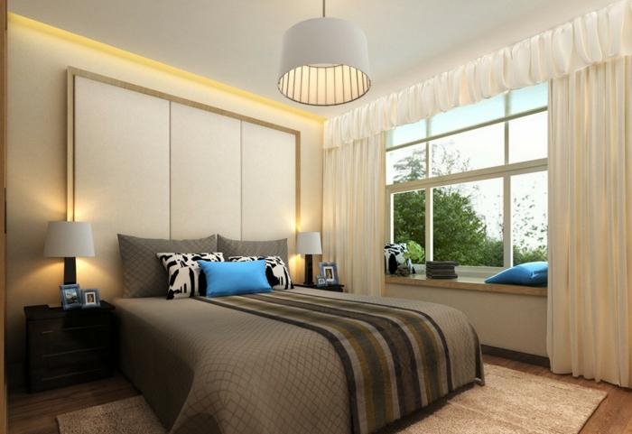 deckenbeleuchtung-für-schlafzimmer-beige-gemütliches-zimmer