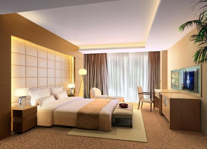 deckenbeleuchtung-für-schlafzimmer-exotische-ausstattung-wunderschöne-wand