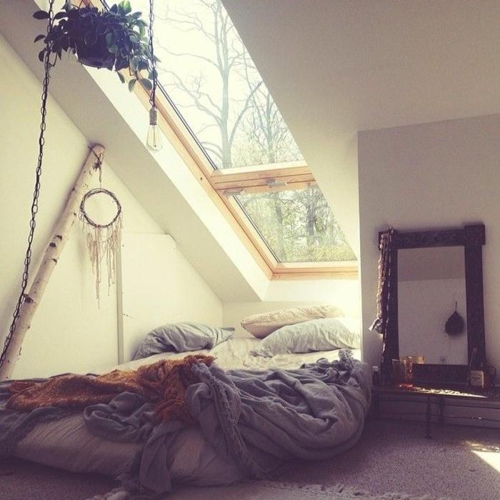 deckenbeleuchtung-für-schlafzimmer-interessante-dachwohnung