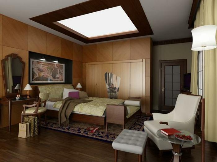deckenbeleuchtung-für-schlafzimmer-interessanter-akzent-an-der-decke