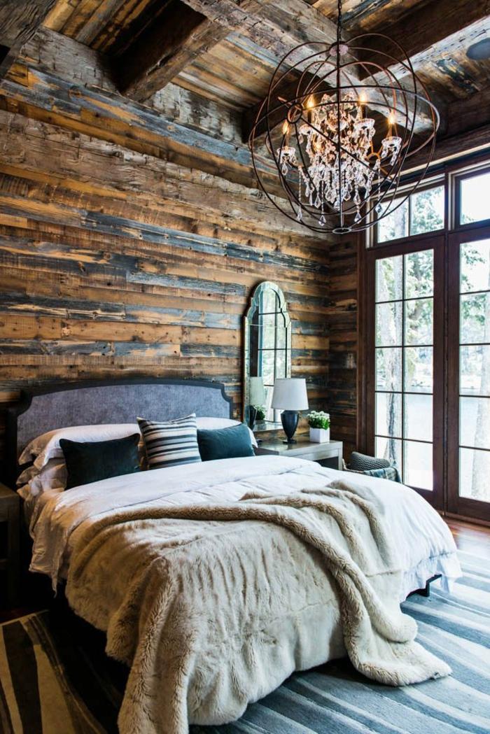 deckenbeleuchtung-für-schlafzimmer-kreative-wandgestaltung