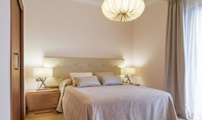 ... den originellen Vorschlägen für Deckenbeleuchtung für Schlafzimmer
