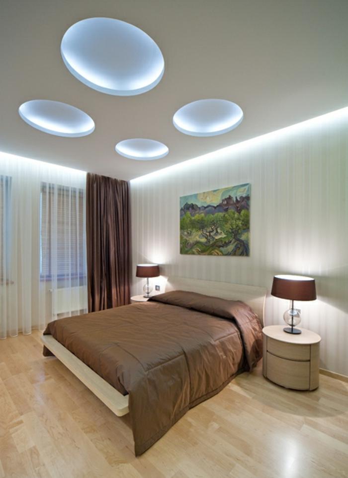 deckenbeleuchtung-für-schlafzimmer-modernes-interieur