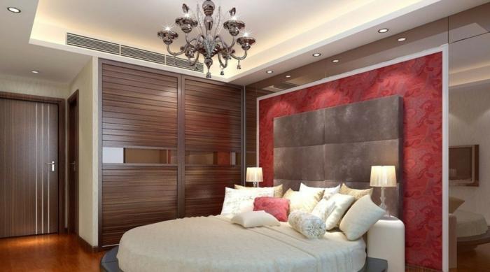 Schlafzimmer Rote Wand ~ Beste Ideen Für Moderne Innenarchitektur,  Schlafzimmer
