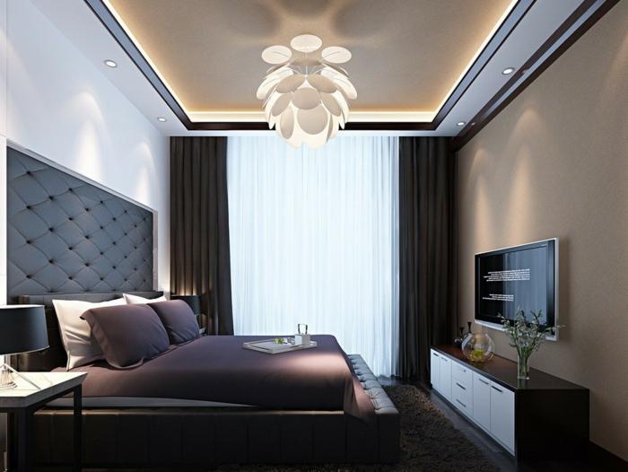deckenbeleuchtung-für-schlafzimmer-schwarz-und-taupe-kombinieren