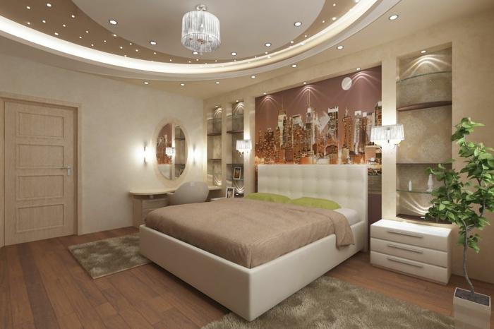 deckenbeleuchtung-für-schlafzimmer-taupe-farbe-vom-bett