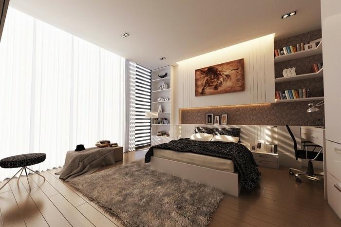 deckenbeleuchtung-für-schlafzimmer-taupe-farbe