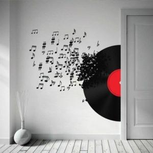 Originelle Vorschläge für Deko mit Schallplatten!