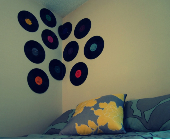 Originelle vorschl ge f r deko mit schallplatten for Vinyl record decoration ideas