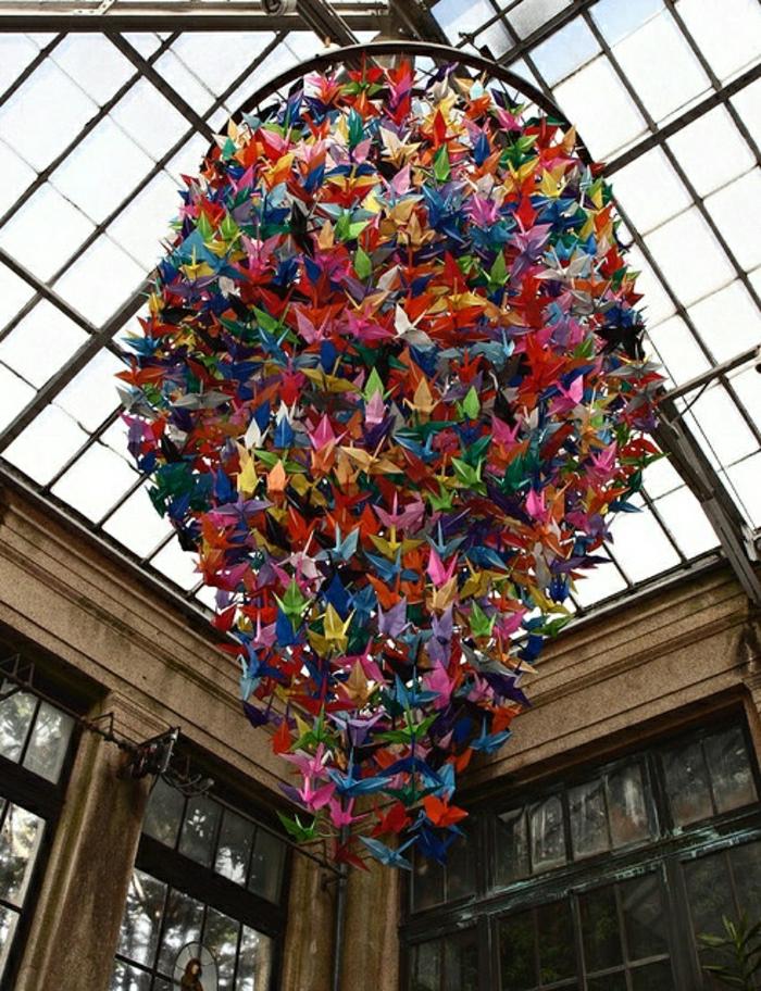 ein-Tausend-Origami-Kraniche-Kronleuchter