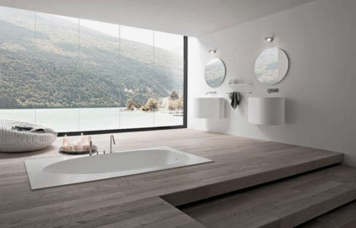 eingelassene badewanne 41 tolle designs. Black Bedroom Furniture Sets. Home Design Ideas