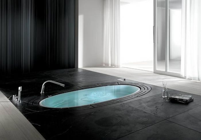 interessante eingelassene badewanne modernes interieur. Black Bedroom Furniture Sets. Home Design Ideas