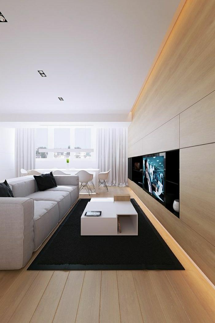 tv wandpaneel 35 ultra moderne vorschl ge. Black Bedroom Furniture Sets. Home Design Ideas