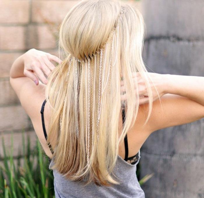 frisuren-mit-haarband-wunderschöne-blonde-glatte-haare