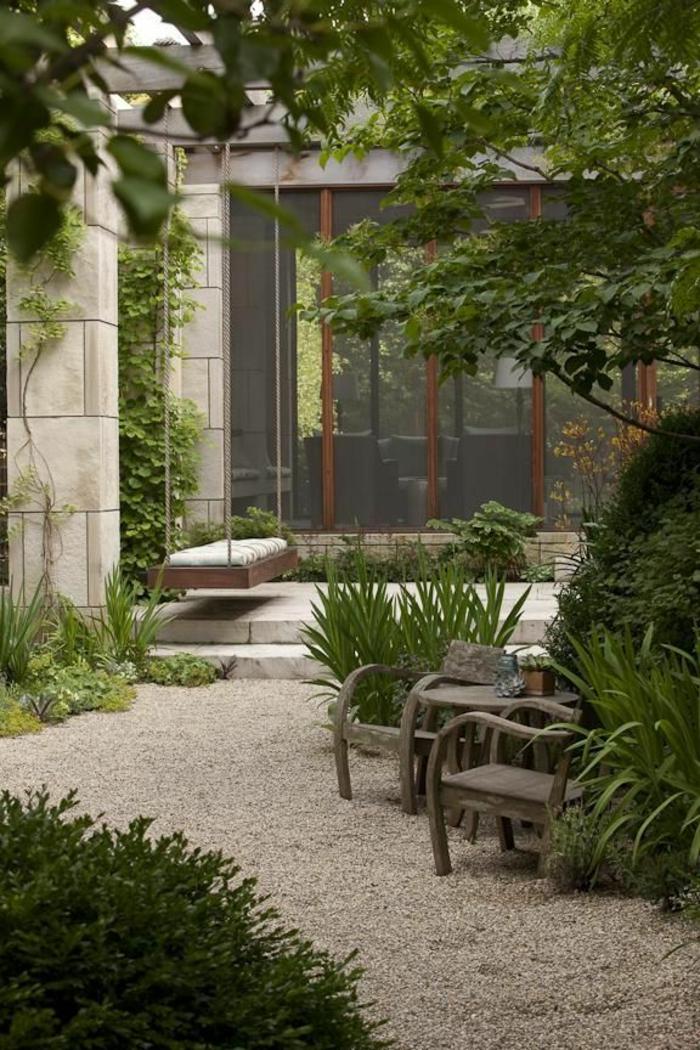 Gartengestaltung Mit Kies Grüne Schöne Pflanzen