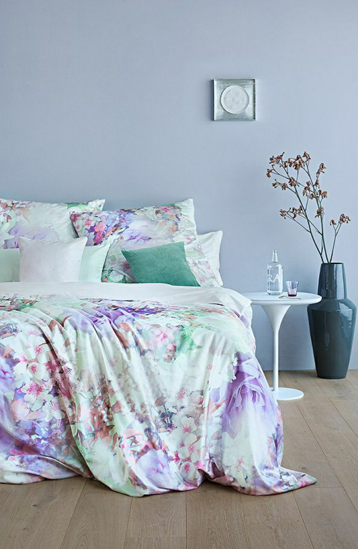 gemütliches-Schlafzimmer-Bettwäsche-romantisches-Muster