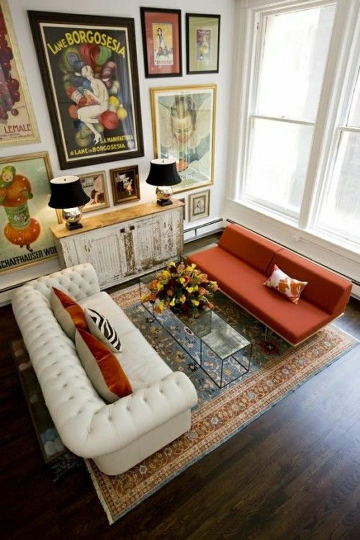 wohnzimmer chesterfield:gemütliches-Wohnzimmer-Chesterfield-Sofa-viele-Bilder