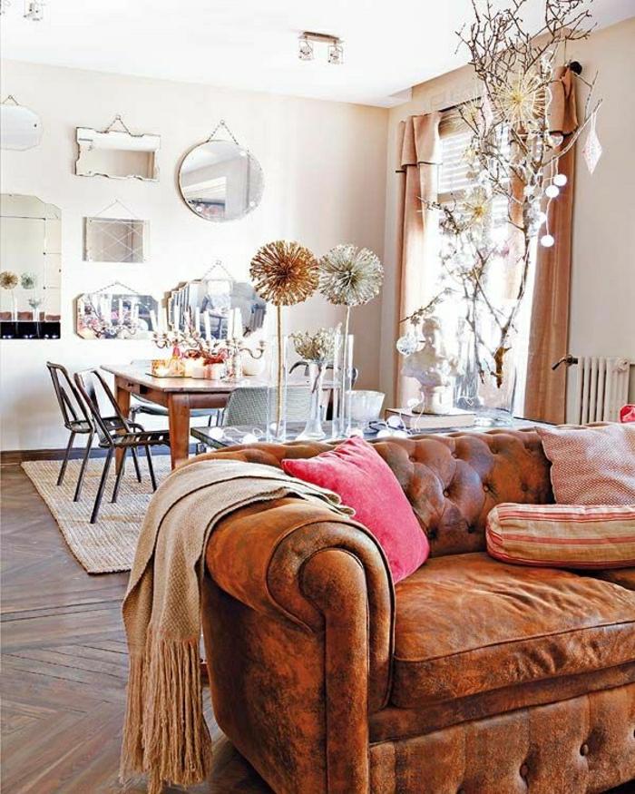 wohnzimmer chesterfield:gemütliches-Wohnzimmer-Herbst-Farben-Chesterfield
