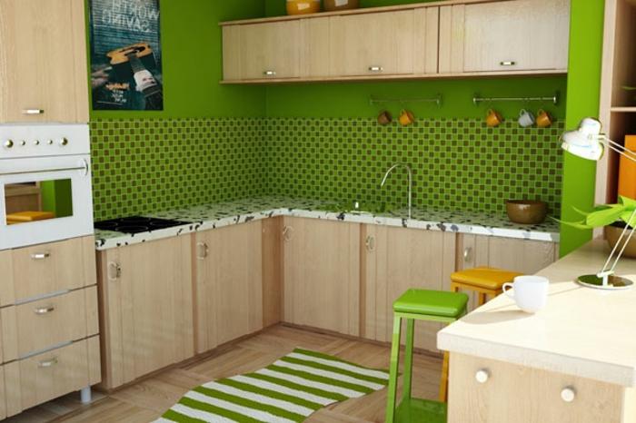 grüne-wandfarbe-kleine-süß-aussehende-küche