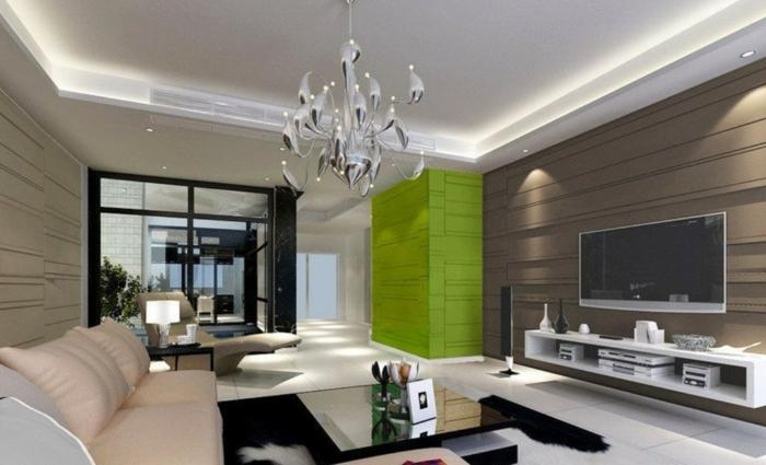 grüne-wandfarbe-zeitgenössisches-design-vom-wohnzimmer