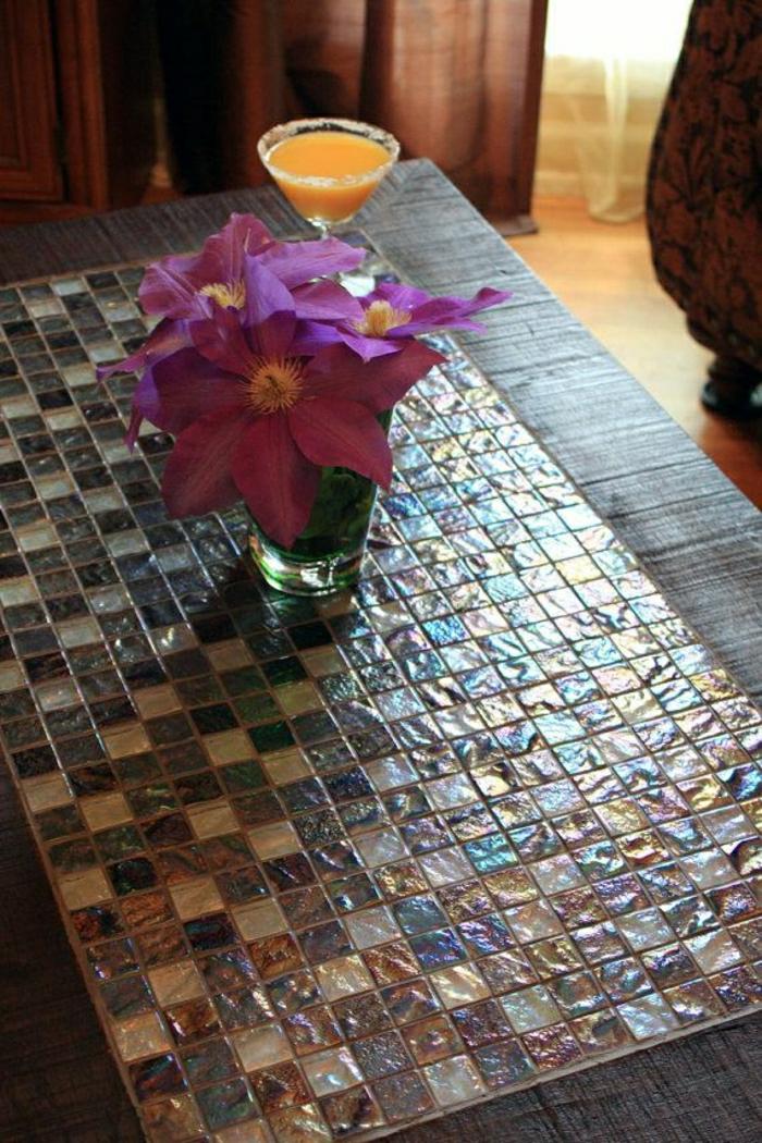 Couchtisch mit dekoration 30 fantastische modelle - Dekoration mosaik ...