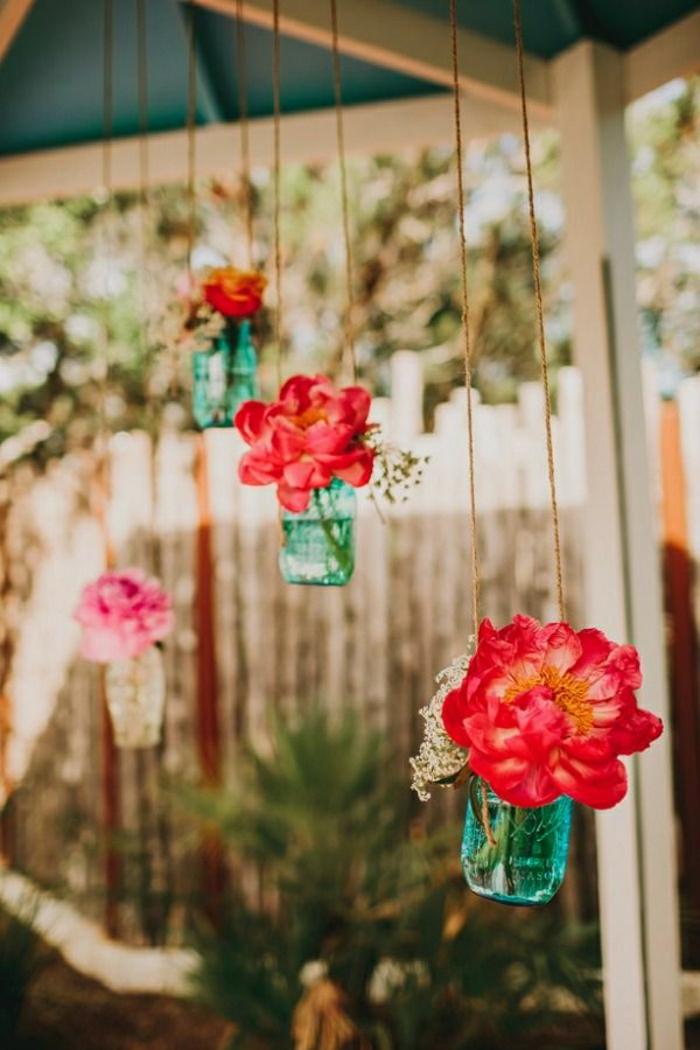 hängende-Dekoration-Blumen-Einweckglas