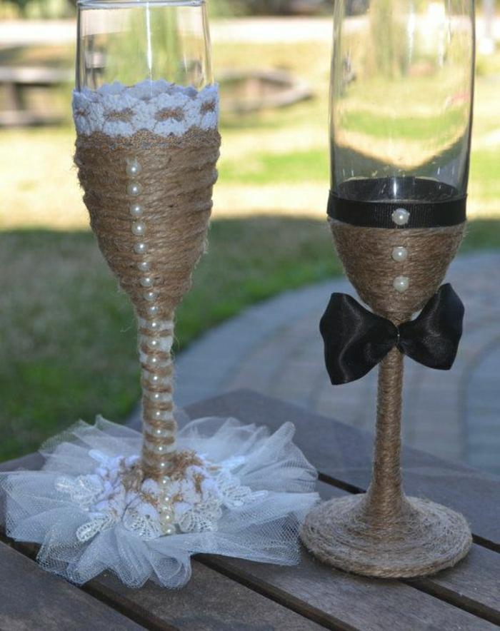 hand-gemachte-Sektgläser-Hochzeit-rustik