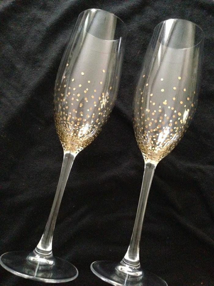 hand-gemalte-Champagner-Gläser