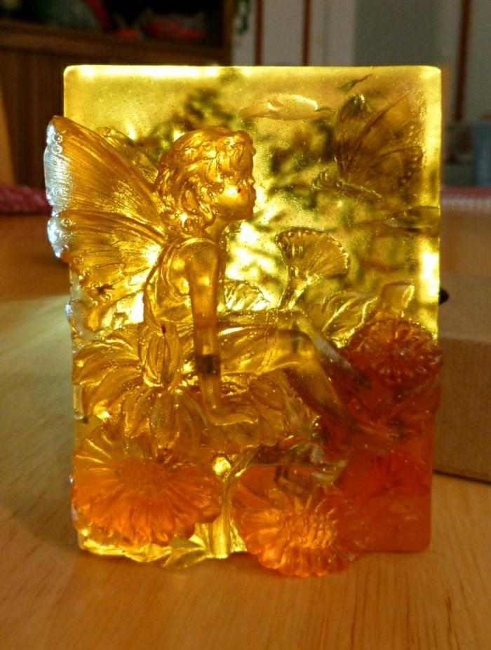 handgemachte-Seife-Honig-Lavendel-Engel-Dekoration
