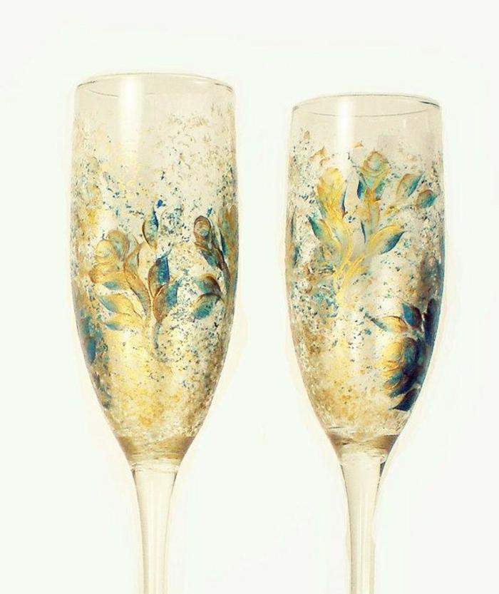 handgemalte-Champagner-Gläser