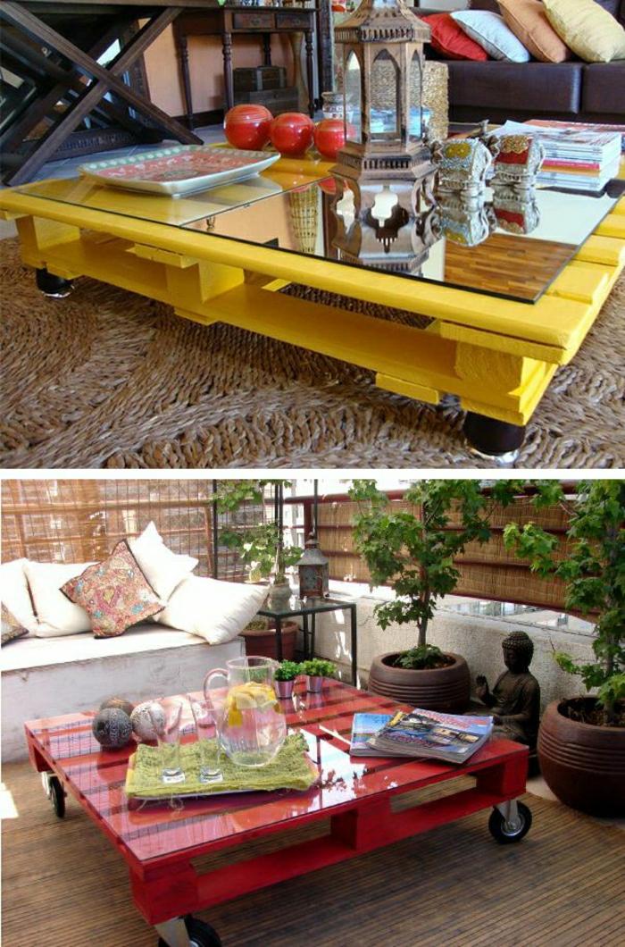tisch aus paletten 33 wunderbare ideen. Black Bedroom Furniture Sets. Home Design Ideas