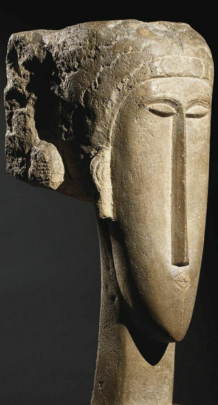 italienische-moderne-Skulpturen-Frau-Gesicht