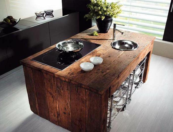 küche-mit-kochinsel-hölzernes-design-mit-einem-interessanten-look