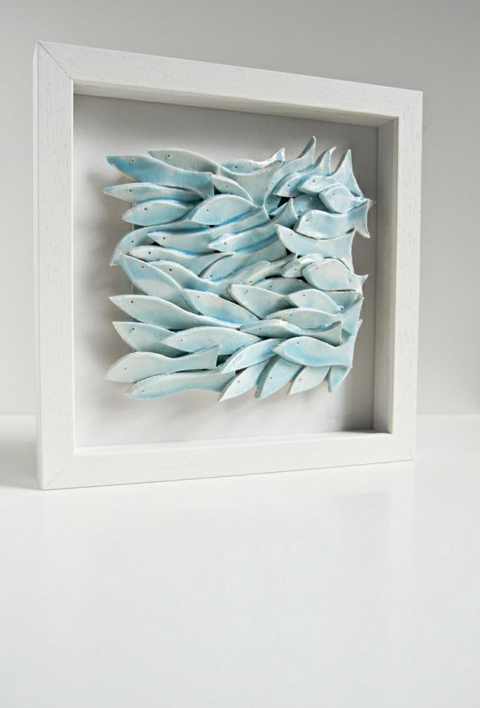 keramische-Skulptur-Fische-Rahmen